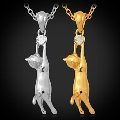 Damen Blume Strass vergoldet Anhängerketten Y-Ketten  -  Silber Golden Modische Halsketten Für Hochzeit Party Party / Abend