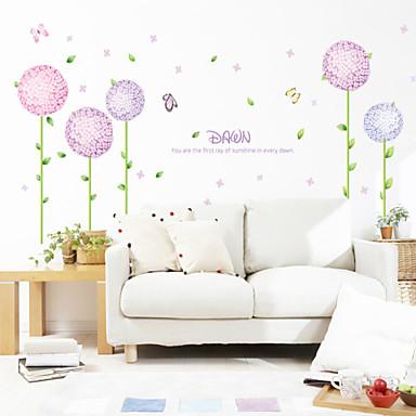 duvar çıkartmaları duvar çıkartmaları, stil mor çiçek pvc duvar çıkartmaları