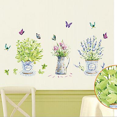Blumen Botanisch Wand-Sticker Tier Wandaufkleber Dekorative Wand Sticker, Vinyl Haus Dekoration Wandtattoo Wand Dekoration