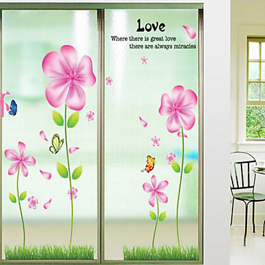 Cartoon Florals Wall Stickers Plane Wall Stickers Decorative Wall Stickers Material Removable Home Decoration Wall Decal