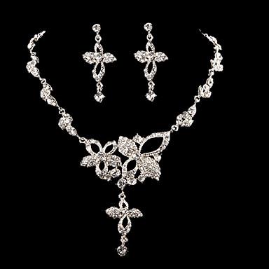 Sieraden set Dames Jublieum / Bruiloft / Verloving Sieraden Sets Kubieke Zirkonia / Licht Metaal Kettingen / Oorbellen Zilver