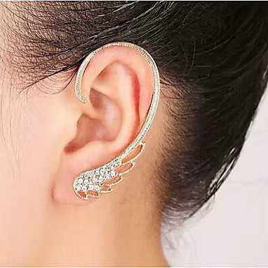 Women's Ear Cuffs Birthstones Rhinestone Alloy Wings / Feather Jewelry Wedding Party Daily Casual