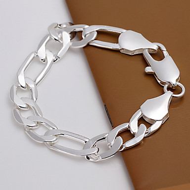 Men's Chain Bracelet Unique Design Fashion Simple Style Copper Silver Plated Others Jewelry Wedding Party Daily Casual