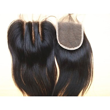 Brazilian Virgin Hair Natural Colour Hair Pieces Lace Closure 3.5