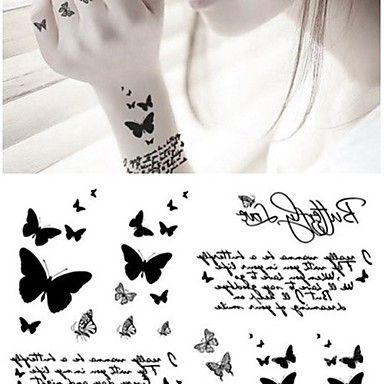 1 Non Toxic Lower Back Waterproof Animal Series Tattoo Stickers