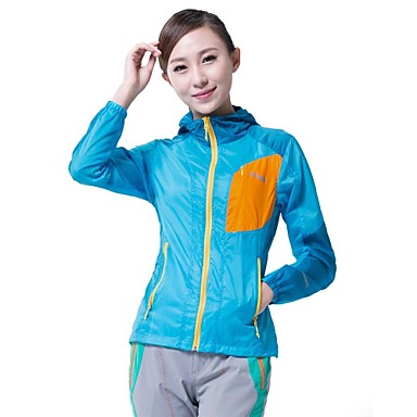 Makino Women's Hiking Jacket Outdoor Quick Dry Ultraviolet Resistant Front Zipper Breathable Lightweight Materials Top Camping / Hiking