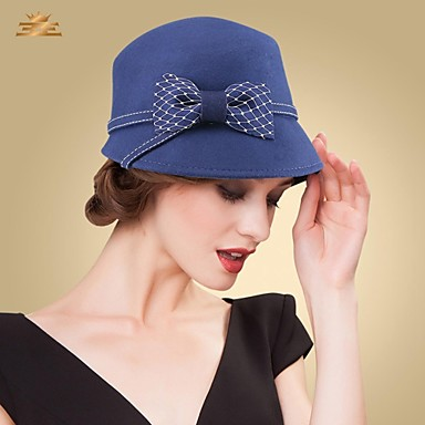Lace Wool Headpiece-Wedding Special Occasion Casual Office & Career Hats
