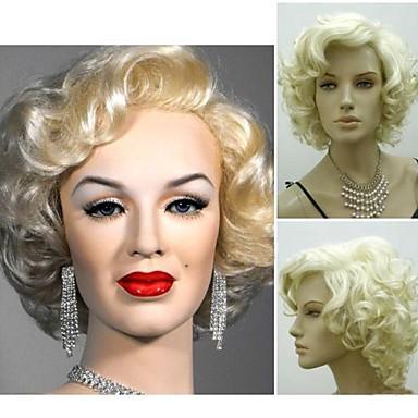 Pelucas sintéticas Rizado Estilo Peluca Blonde Pelo sintético 4 pulgada Mujer Peluca Corta StrongBeauty Peluca de cosplay