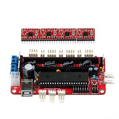 Geeetech 3D Printer RepRap Assembled Sanguinololu Board + 4 x A4988 Stepper Drivers