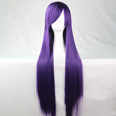 Syntetiske parykker Rett Asymmetrisk frisyre Syntetisk hår Naturlig hårlinje Lilla Parykk Dame Lang Cosplay-parykk / Halloween parykk