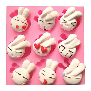 cartoon leuke mooie konijn fondant taart mallen chocolade mal voor de keuken bakken voor kandijsuiker
