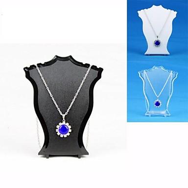 Standards à bijoux - Mode Transparente, Noir, Blanc 6 cm / Femme