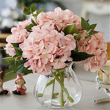 1 Gałąź Poliester Hortensje Bukiety na stół Sztuczne Kwiaty Dekoracja domowa Kwiaty ślubne