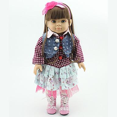 Lebensechte Puppe Prinzessinnen-Püppchen Mädchen Puppe Baby 18 Zoll Ganzkörper Silikon Silikon Vinyl - Neugeborenes lebensecht Handgemacht Kindersicherung Non Toxic Kinder Mädchen Spielzeuge Geschenk