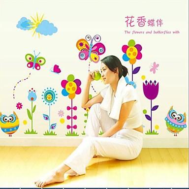 Duvar Çıkartması Dekoratif Duvar Çıkartmaları - Uçak Duvar Çıkartmaları Manzara Natürmort Romantizm Moda Çiçekler Karton Fantezi Botanik