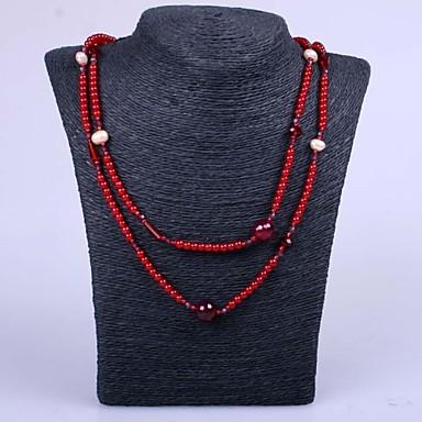 Femme Mode Collier de perles Collier de brins Perle Résine Collier de perles Collier de brins Soirée Quotidien Décontracté Bijoux de
