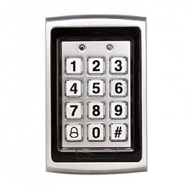 metalen toegang chrome control stand-alone enkele deur systeem ingebouwde kaartlezer en wachtwoord toetsenbord