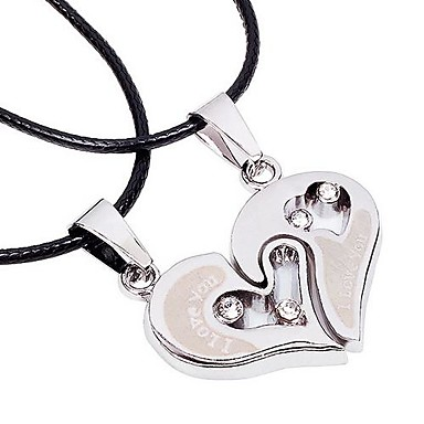 Necklace Choker Necklaces Pendant Necklaces Jewelry Thank You Valentine Heart Heart Alloy Women Men Gift