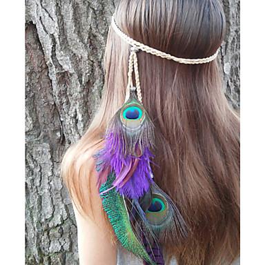παγώνι φτερό κορδέλα, Native American, πλεκτά headband, indian headband, παγώνι κόμμωση, ερείκη hairband