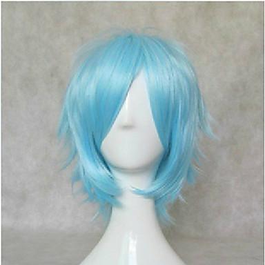 Syntetiske parykker / Kostymeparykker Rett Syntetisk hår Blå Parykk Dame Kort Halloween parykk / Karneval Parykk