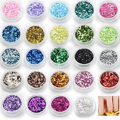 24 Glitter & Poudre Payetler Soyut Moda Yüksek kalite Günlük