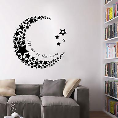 настенные наклейки наклейки на стены, стиль полумесяц звезды наклейки стены PVC