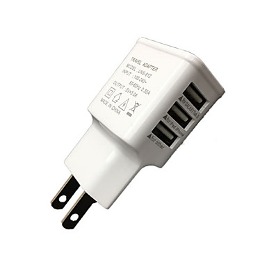 Home Charger Portable Charger Phone USB Charger EU Plug Multi Ports 3 USB Ports 3A AC 100V-240V For iPad For Cellphone