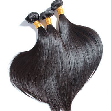 3 PC / Los hochwertige brasilianische gerade Haar, kein Verschütten, keine Verwicklung 100% unverarbeitetes reines Menschenhaar