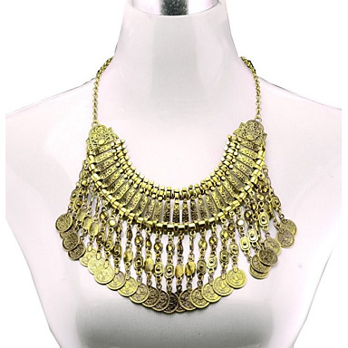 Women's Statement Necklace - Tassel, European Gold, Silver Necklace For Party