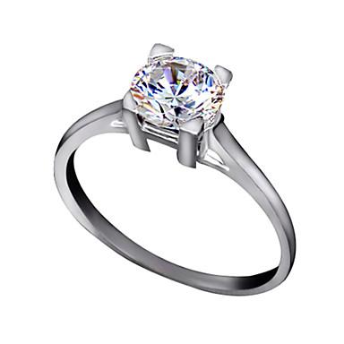 Vallomás gyűrűk Kristály utánzat Diamond Ötvözet Klasszikus Ezüst Aranyozott Ékszerek Esküvő Parti Napi Hétköznapi 1db