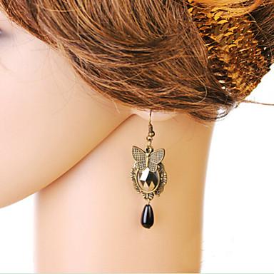Women's Crystal Stud Earrings / Drop Earrings - Fashion Black / Red For Daily