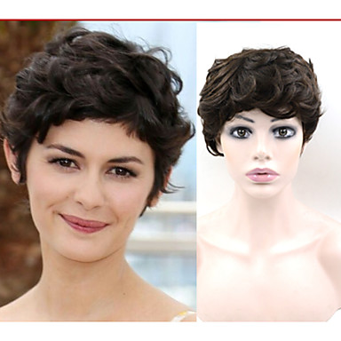 #2 wigs Exquisite Women's Hairstyle Brazilian Hair wig Straight Brown Elegant Short Hair Wigs Free Shipping