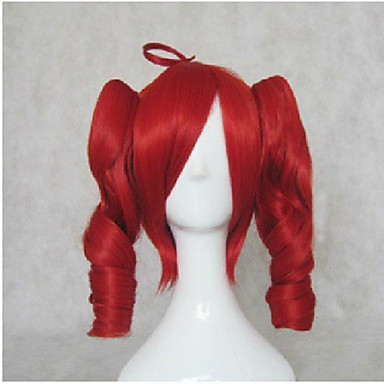 Synthetic Hair Wigs Loose Wave With Ponytail Capless Lolita Wig Cosplay Wig Mid Length Brown Blonde Red