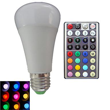 E26/E27 LED Küre Ampuller A80 3PCS led Yüksek Güçlü LED Kısılabilir Uzaktan Kumandalı Dekorotif RGB RGB AC 85-265V