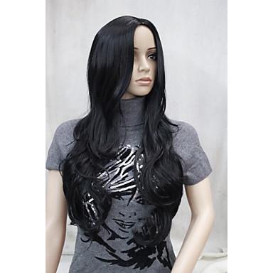 Synthetische Perücken Wellen Mit Pony Synthetische Haare Perücke Damen Kappenlos Hivision