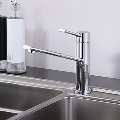 Nykyaikainen Bar / Prep Pöytäasennus Touch/Touchless Keraaminen venttiili Yksi reikä Yksi kahva yksi reikä Kromi , Kitchen Faucet