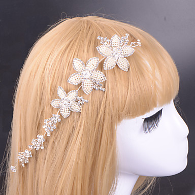 Crystal Fabric Alloy Tiaras 1 Wedding Special Occasion Party / Evening Headpiece