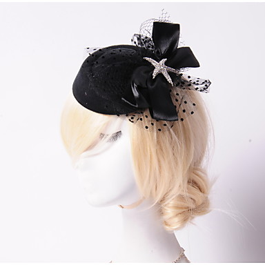 Tulle Crystal Rhinestone Flannelette Fabric Tiaras Flowers Hats 1 Wedding Special Occasion Party / Evening Outdoor Headpiece