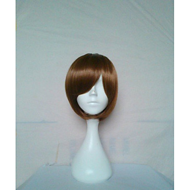 Stylish Cosplay Wigs Natural Wig Woman's Wig Brown Short Straight Animated Synthetic Hair Wig