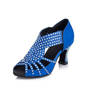 Для женщин-Бархатистая отделка-Не персонализируемая(Королевский синий) -Латина