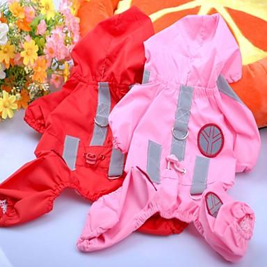 Σκυλιά Αδιάβροχο Πάλτο Κόκκινο Ροζ Τριανταφυλλί Ρούχα για σκύλους Καλοκαίρι Μονόχρωμο Καθημερινά Αθλητικά