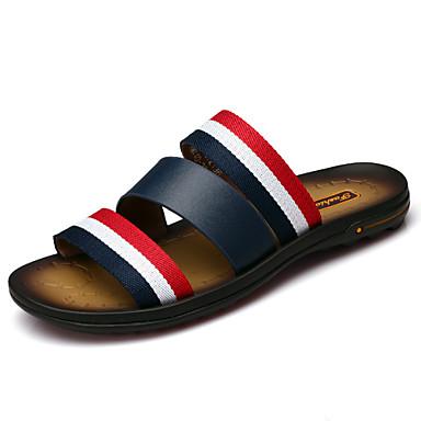 Homens sapatos Pele Primavera Verão Outono Conforto Chinelos e flip-flops Água para Casual Social Ao ar livre Escritório e Carreira Preto