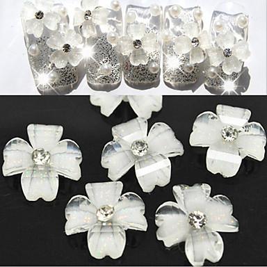 10 Köröm ékszer Virág Klasszikus Esküvő Napi Virág Klasszikus Esküvő Jó minőség
