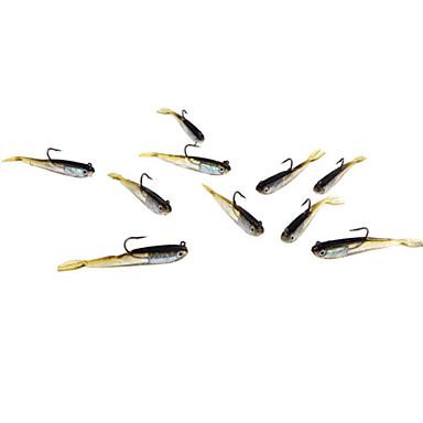 5 szt Miękka Bait Návnady Miękkie Jerkbaity Shad Miękka przynęta Miękkiego tworzywa Prowadzić Krzem Sea Fishing Wędkarstwo słodkowodne