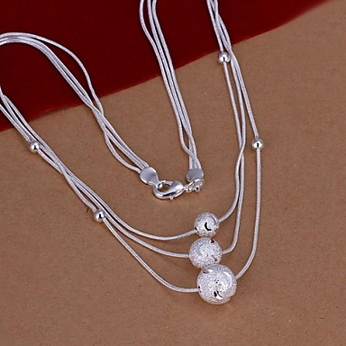 Women's Statement Necklaces Silver Plated Fashion Costume Jewelry Jewelry For Wedding Party Daily Casual