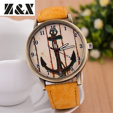 Women's Casual Watch Quartz Casual Watch Leather Band Elegant Black White Blue Yellow