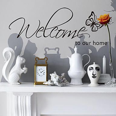 duvar çıkartmaları duvar çıkartmaları, stil hoş geldiniz ev ingilizce kelimeler&pvc duvar çıkartmaları tırnak