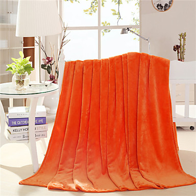 Coral fleece, Printed Solid Cotton/Polyester Blankets