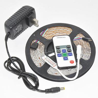 ZDM® 5 m Lyssett 300 LED 1 11Vis fjernkontrollen 1 x 12V 3A adapter RGB Kuttbar Vanntett Selvklebende Dekorativ 1set