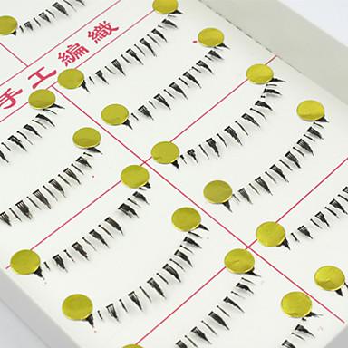 10 pár új, természetes, hosszú fekete műszempillák kézzel készített egyedi alsó szempillák alatt smink szempilla kiterjesztéseket